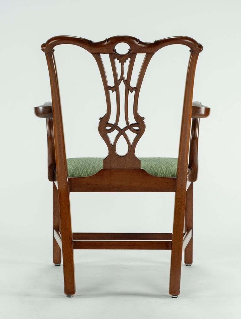 Set of Ten 18th Century Mahogany Dining Chairs For Sale 1