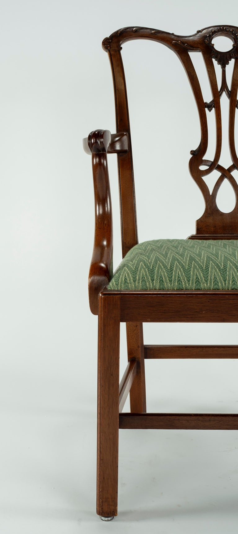 Set of Ten 18th Century Mahogany Dining Chairs For Sale 4