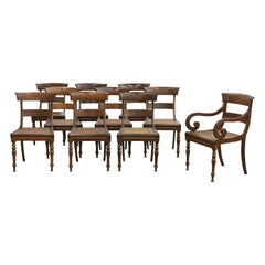 Set of Ten 19th Century Anglo Colonial Rosewood Regency Dining Chairs