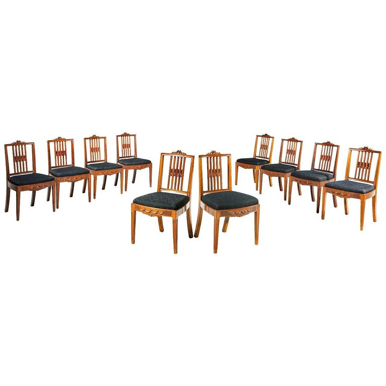 Set of Ten 19th Century Dining Chairs For Sale