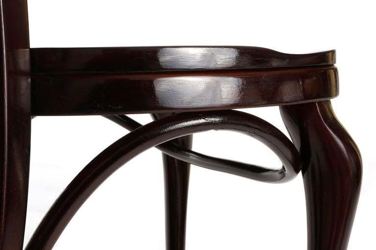 Set of Ten Adolf Loos Chairs Cafe Capua Vienna, Austria, Thonet, 1913 For Sale 2