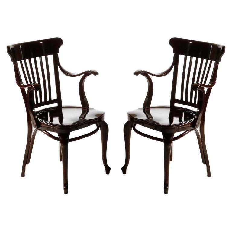 Set of Ten Adolf Loos Chairs Cafe Capua Vienna, Austria, Thonet, 1913 For Sale 5