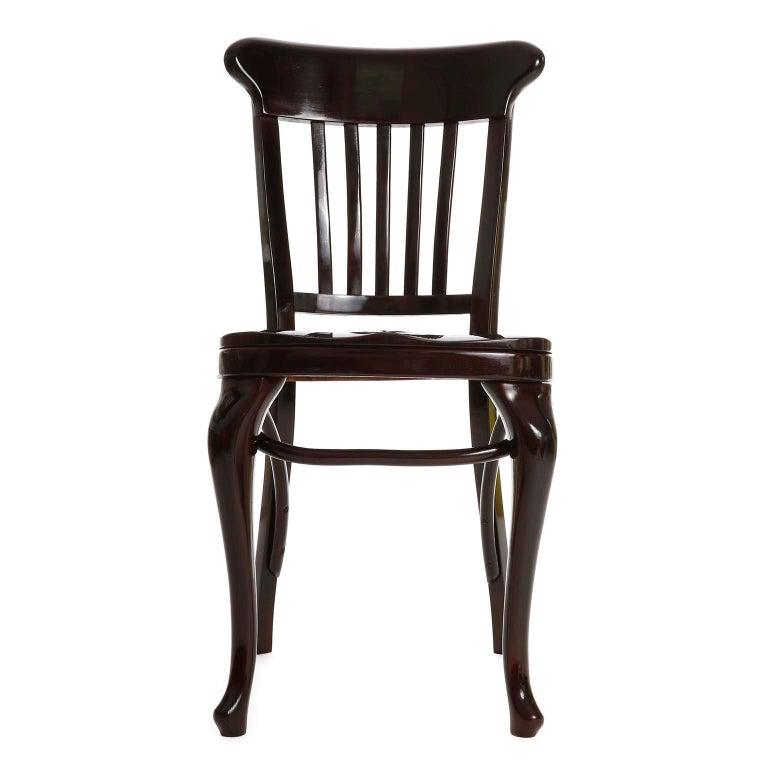 Austrian Set of Ten Adolf Loos Chairs Cafe Capua Vienna, Austria, Thonet, 1913 For Sale