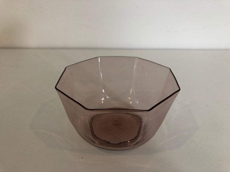 Set of Ten Amber Venetian Glass Bowls or Cups In Excellent Condition For Sale In Stockton, NJ