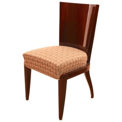 Art Deco Dining Room Chairs, Mahogany Veneer, France, circa 1930