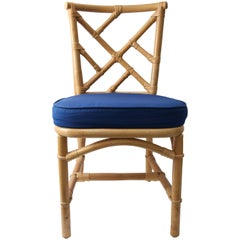 Set of Ten Bamboo Side Chairs