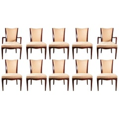 Set of Ten Barbara Barry Collection for Baker Dining Chairs