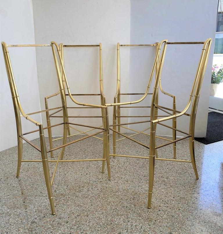 This stylish set of ten brass