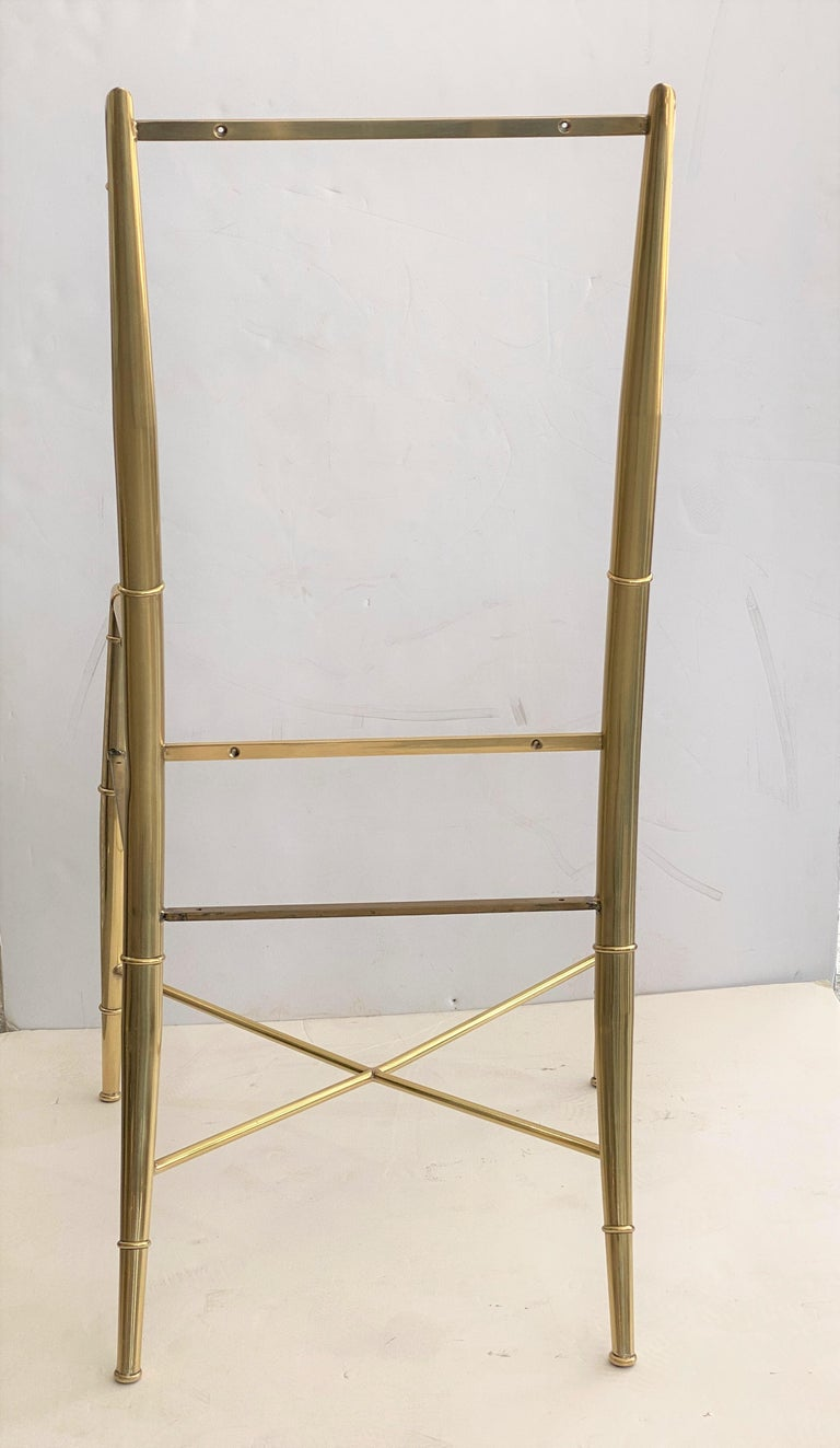 20th Century Set of Ten Brass Dining Chairs by Mastercraft For Sale