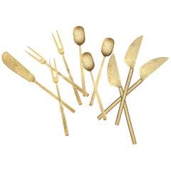 Set of Ten Cast Bronze Charcuterie Widgets