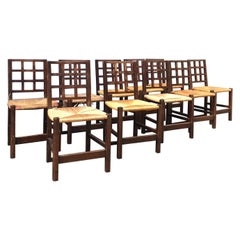 Set of Ten Chairs by Victor Courtray