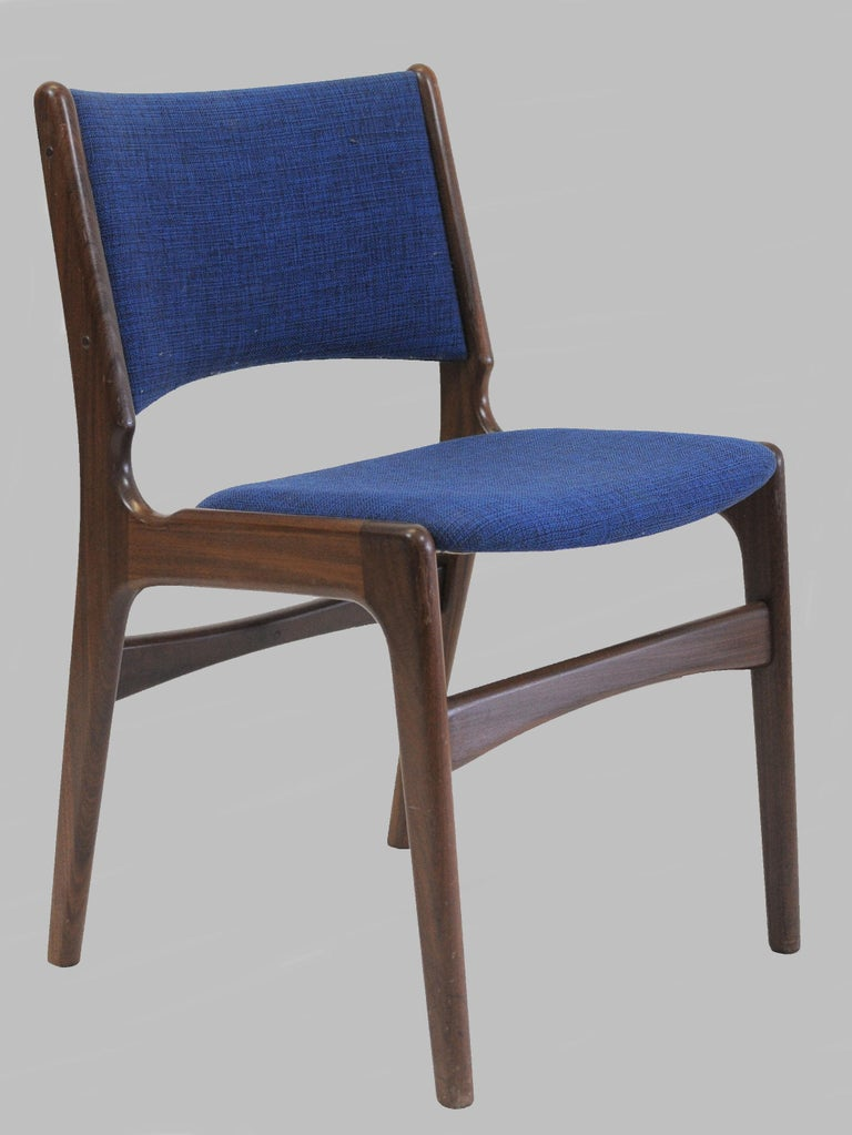 Scandinavian Modern Set of Ten Danish Fully Restored Erik Buch Dining Chairs, Inc. Re-Upholstery For Sale