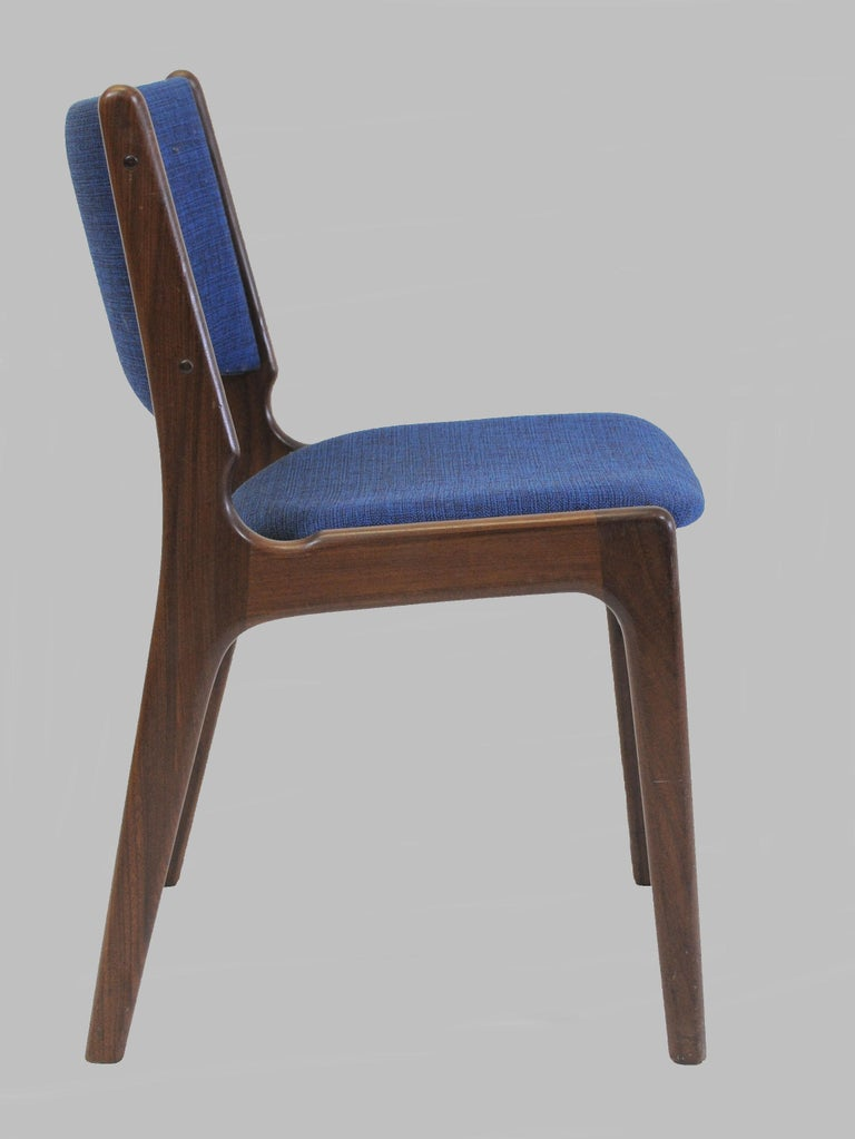 Woodwork Set of Ten Danish Fully Restored Erik Buch Dining Chairs, Inc. Re-Upholstery For Sale