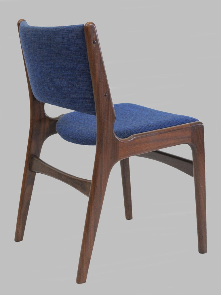 Set of Ten Danish Fully Restored Erik Buch Dining Chairs, Inc. Re-Upholstery In Excellent Condition For Sale In Knebel, DK