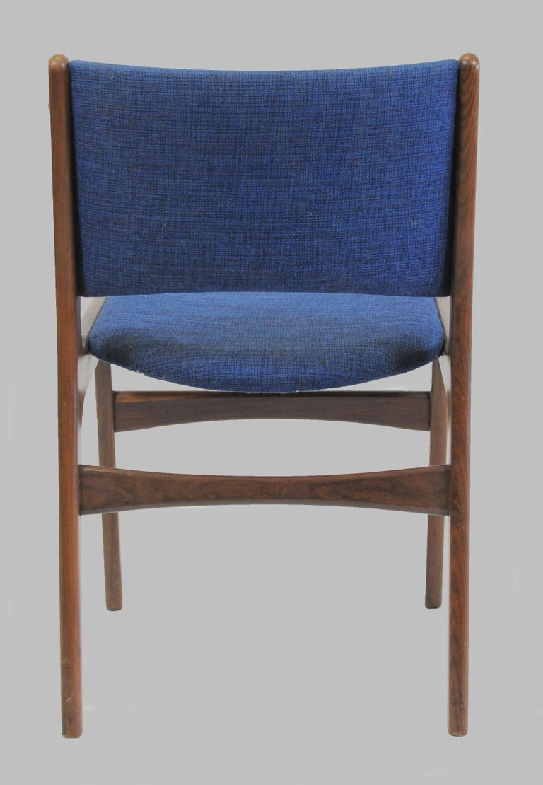 20th Century Set of Ten Danish Fully Restored Erik Buch Dining Chairs, Inc. Re-Upholstery For Sale