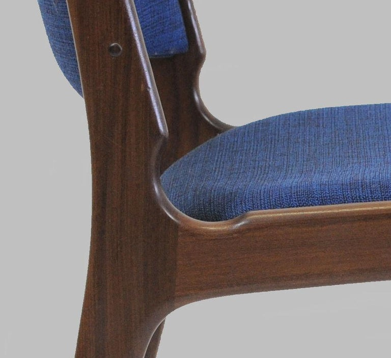 Teak Set of Ten Danish Fully Restored Erik Buch Dining Chairs, Inc. Re-Upholstery For Sale