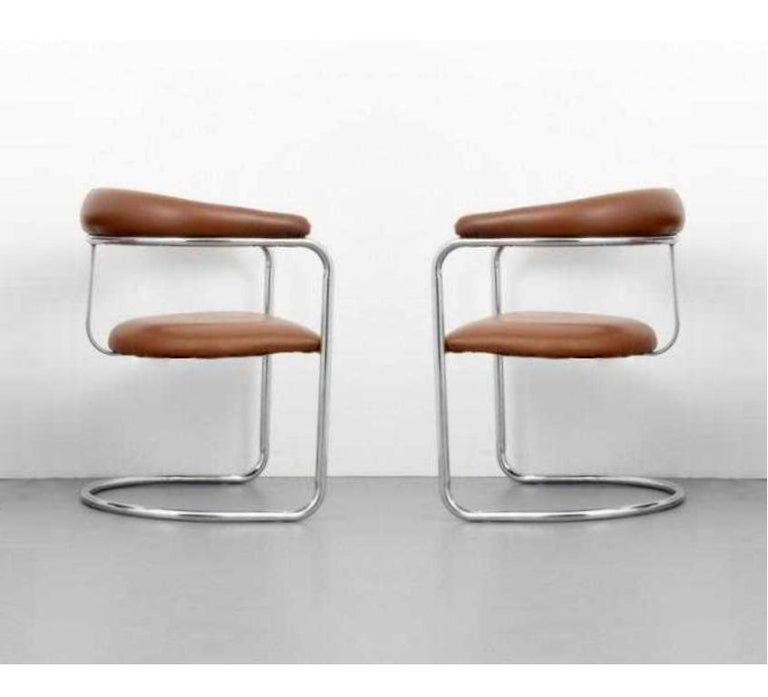 Mid-Century Modern Set of Ten Dining Chairs by Anton Lorenz for Thonet For Sale