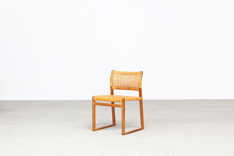 20th Century Set of Ten Dining Chairs by Børge Mogensen for Fredericia in Oak, Denmark For Sale