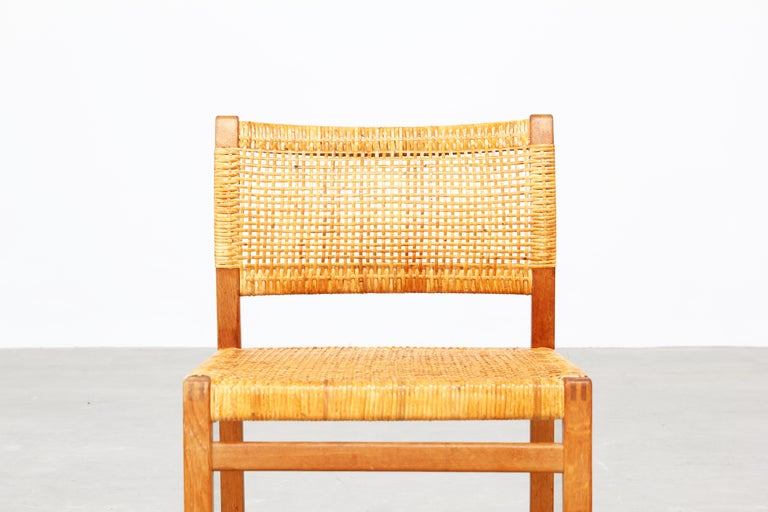 Set of Ten Dining Chairs by Børge Mogensen for Fredericia in Oak, Denmark For Sale 3