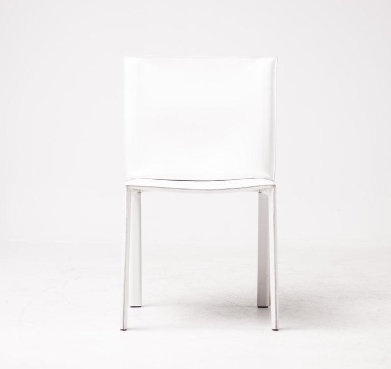 Steel Set of Twelve Dining Chairs by Grazzi and Bianchi for Enrico Pellizzoni For Sale