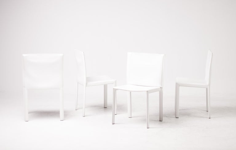 Set of Twelve Dining Chairs by Grazzi and Bianchi for Enrico Pellizzoni For Sale 1