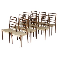 Set of Ten Dining Chairs by Niels O. Møller