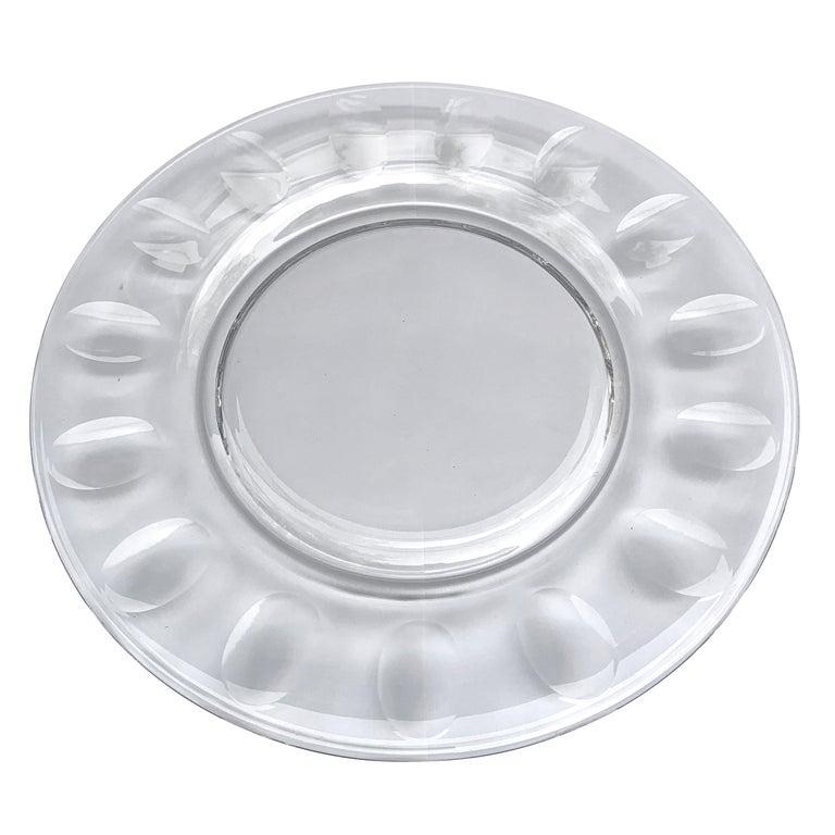 Mid-20th Century Set of Ten Dutch Cut Crystal Plates For Sale