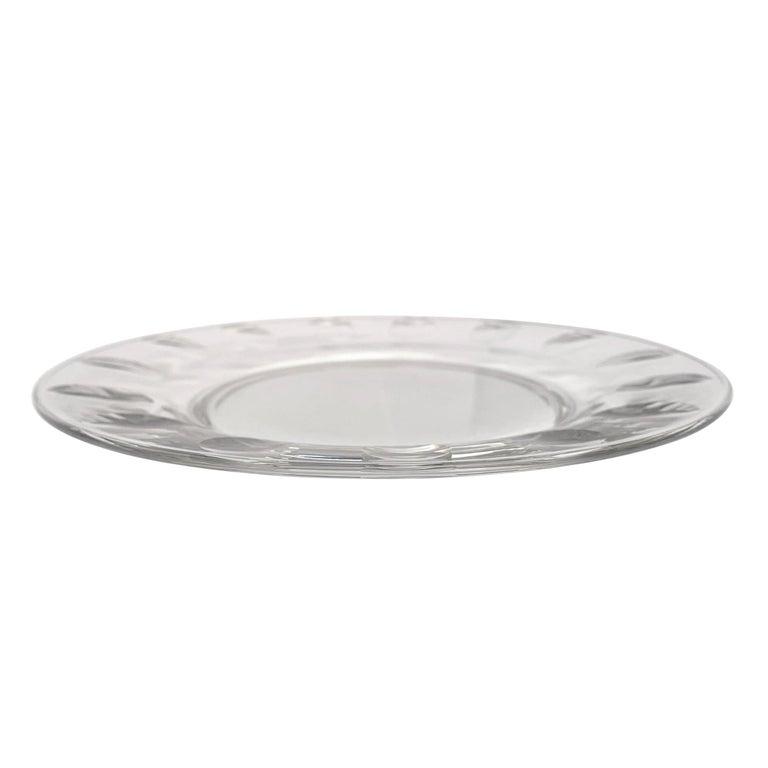 Set of Ten Dutch Cut Crystal Plates For Sale 1
