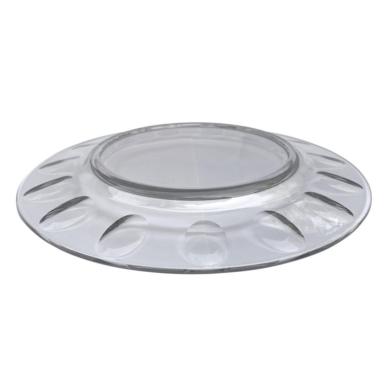 Set of Ten Dutch Cut Crystal Plates For Sale 3