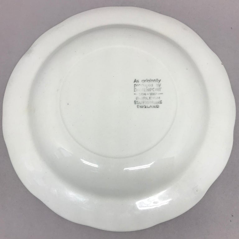 Ceramic Set of Ten Each White Strawberry Leaf Dinner and Lunch/Dessert Plates For Sale
