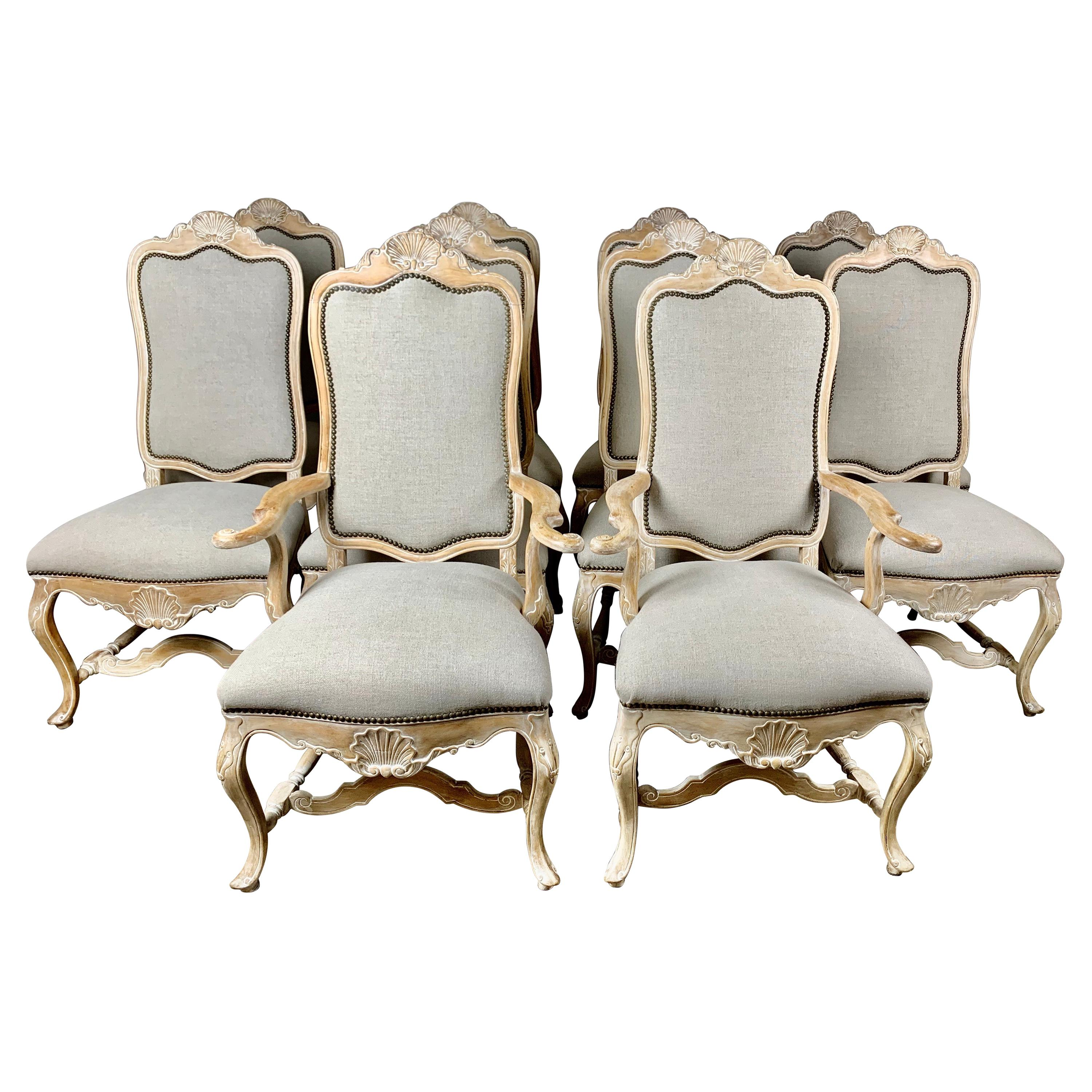 Set of Ten French Dining Chairs