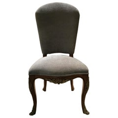 Set of Ten French Louis XV Style Dining Chairs, Walnut, New Upholstery