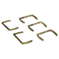 Set of Ten French Solid Bronze Door Handles