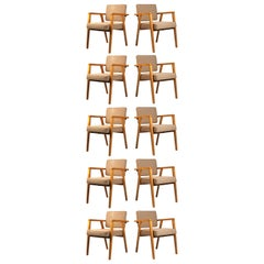 Set of Ten Fully Restored Vintage Franco Albini Dining Chairs produced by Knoll