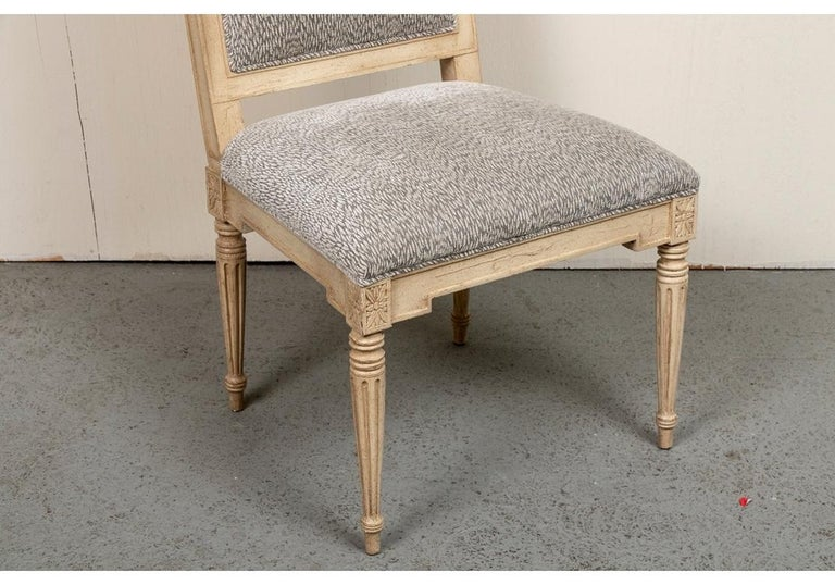 Wood Set of Ten Gustavian Style Dining Chairs by Hickory Chair For Sale