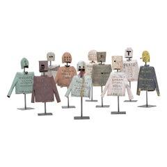 Set of Ten Helmet & Jacket Sculptures by Patrick Fitzgerald