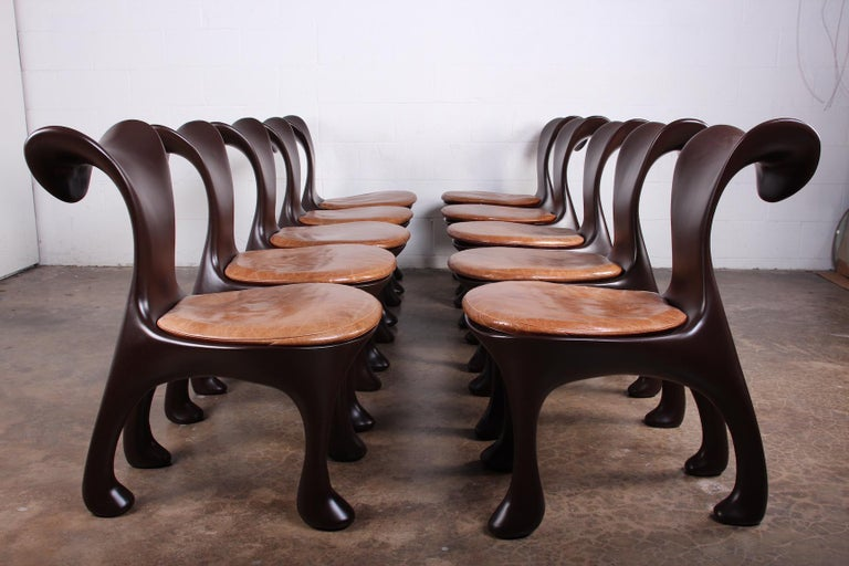 Set of Ten Hoodie Dining Chairs by Jordan Mozer For Sale 5