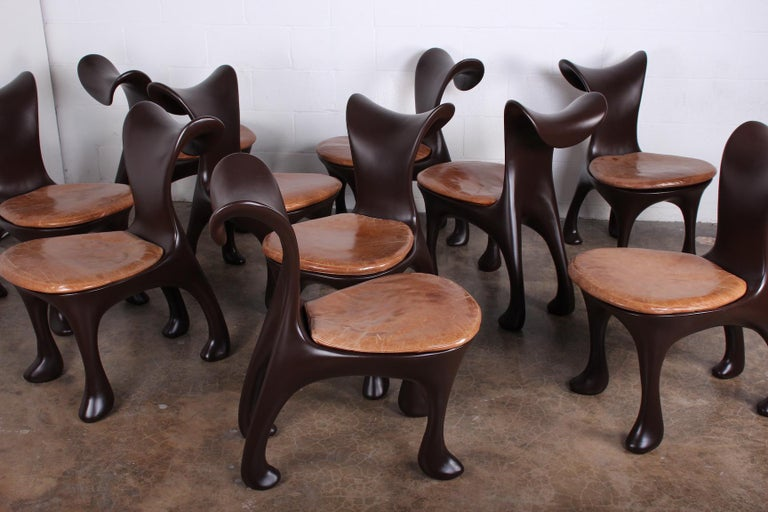Set of Ten Hoodie Dining Chairs by Jordan Mozer For Sale 6