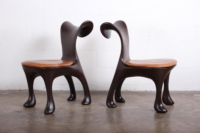 Set of Ten Hoodie Dining Chairs by Jordan Mozer In Good Condition For Sale In Dallas, TX