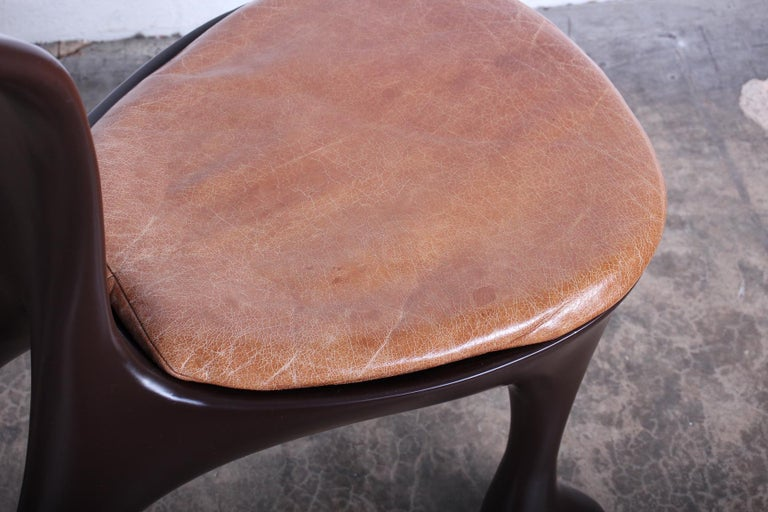Resin Set of Ten Hoodie Dining Chairs by Jordan Mozer For Sale