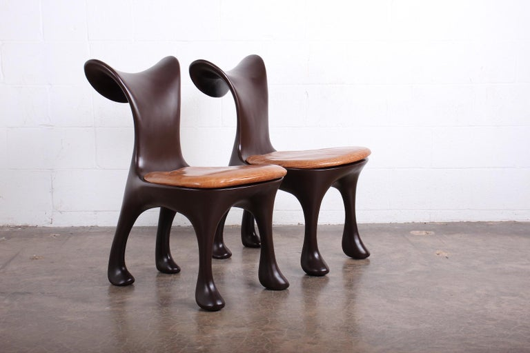 Set of Ten Hoodie Dining Chairs by Jordan Mozer For Sale 3
