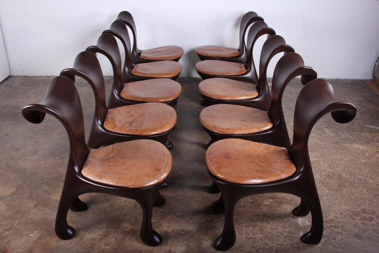 Set of Ten Hoodie Dining Chairs by Jordan Mozer For Sale 4