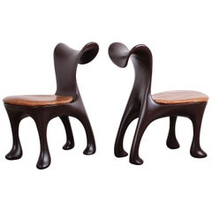 Set of Ten Hoodie Dining Chairs by Jordan Mozer