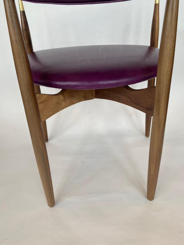 Set of Ten Italian Chairs, circa 1980s For Sale 6