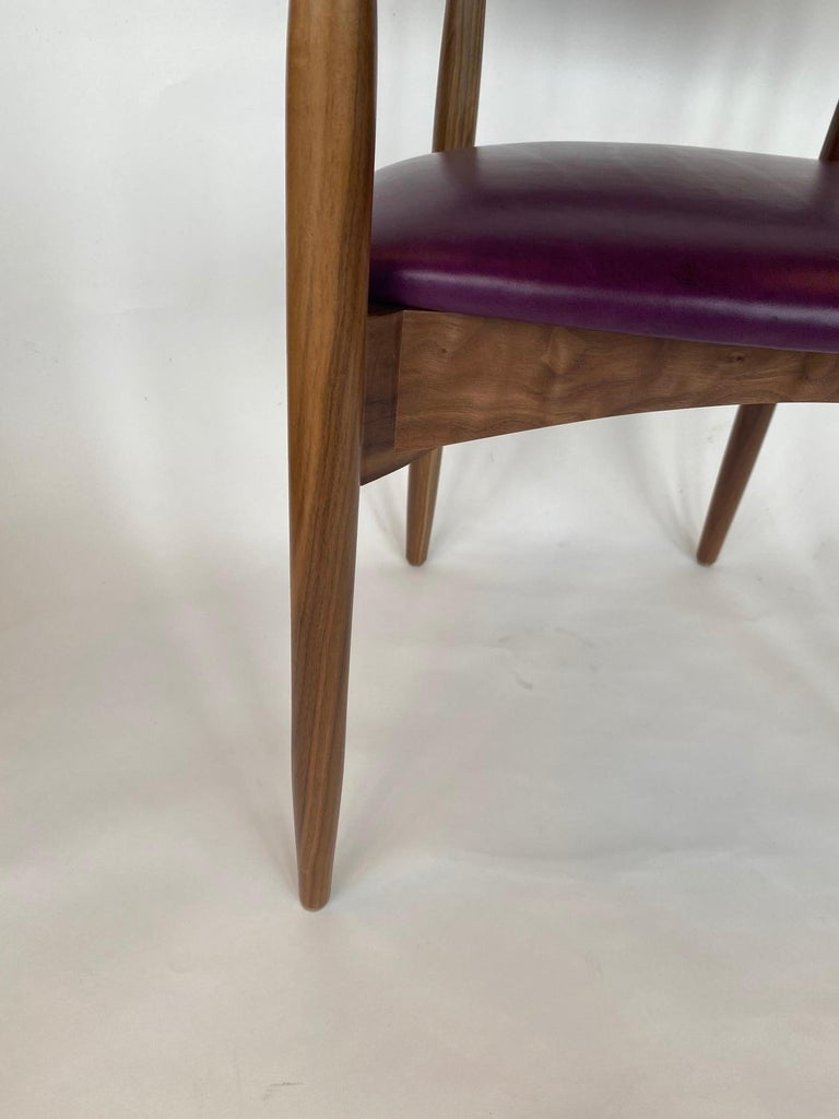 Set of Ten Italian Chairs, circa 1980s For Sale 8