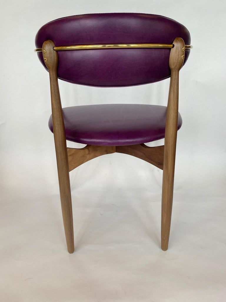 Set of Ten Italian Chairs, circa 1980s In Excellent Condition For Sale In Los Angeles, CA