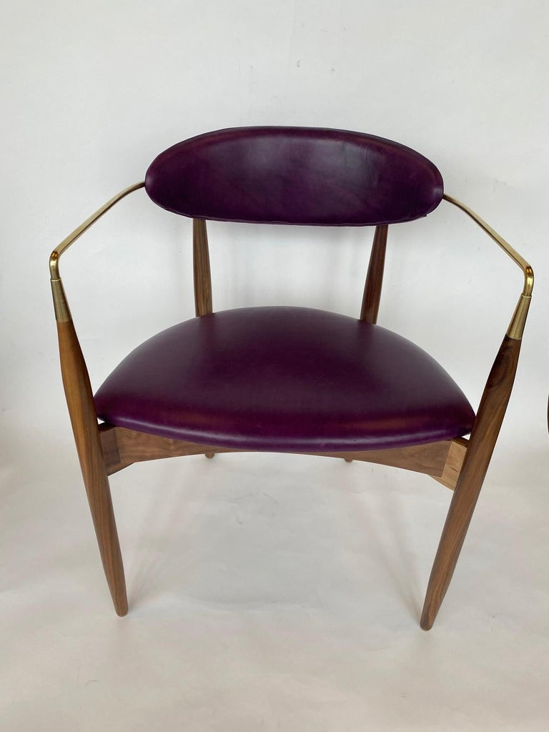 Set of Ten Italian Chairs, circa 1980s For Sale 2