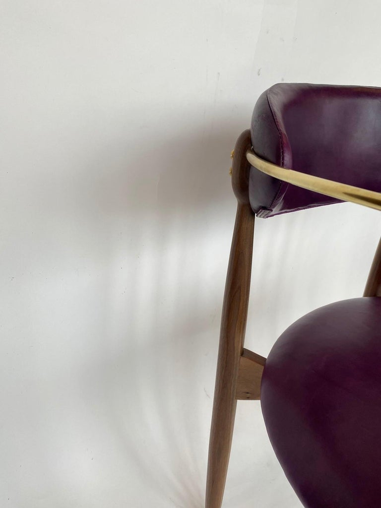 Set of Ten Italian Chairs, circa 1980s For Sale 4