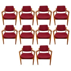 Set of Ten Jens Risom for Avon Corporation Armchairs Chairs
