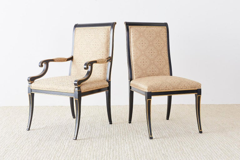 Set of Ten Karges English Regency Style Dining Chairs 3